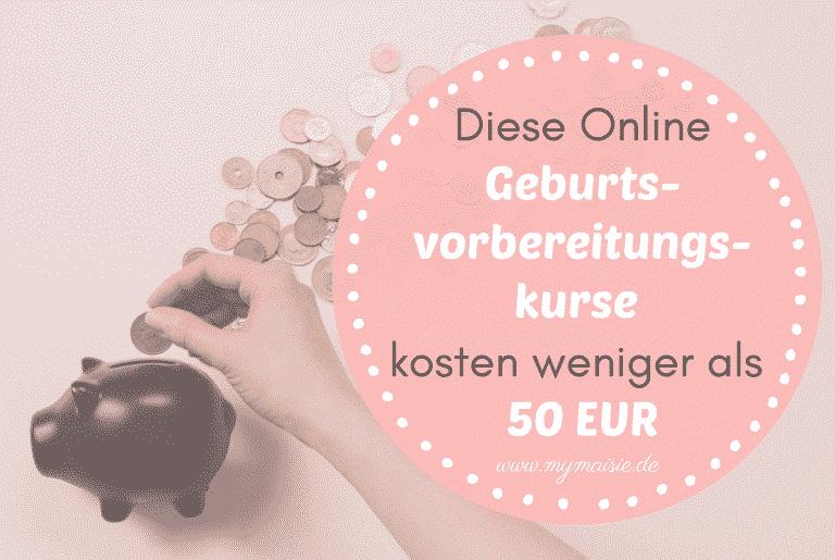 Diese Online Geburtsvorbereitungskurse kosten weniger als 50€! Oder sind sogar kostenlos…