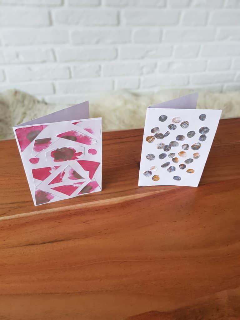 Karten aus Kinderzeichnungen basteln ab 2 Jahren - super schnell & super einfach!