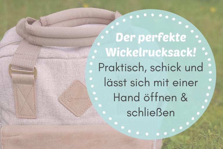 Read more about the article Ich habe ihn gefunden: den perfekten Wickelrucksack! Praktisch, schick und lässt sich mit einer Hand öffnen & schließen
